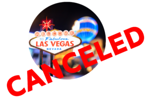 This picture shows that our wedding in Las Vegas was canceled.