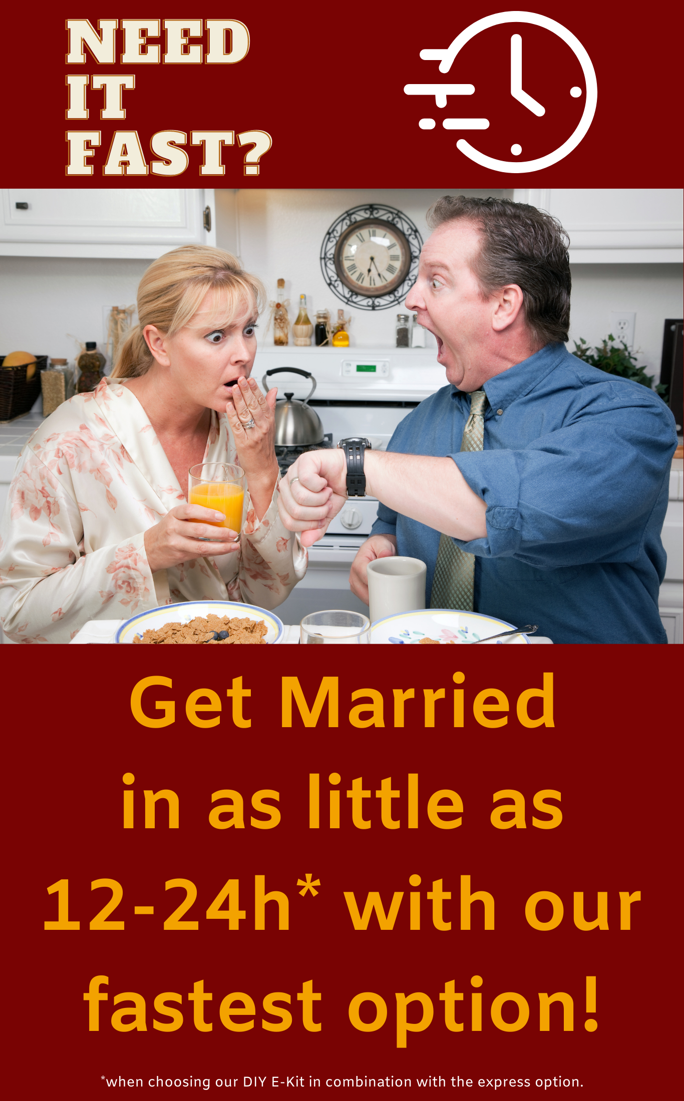 Get Married Today Advertisement