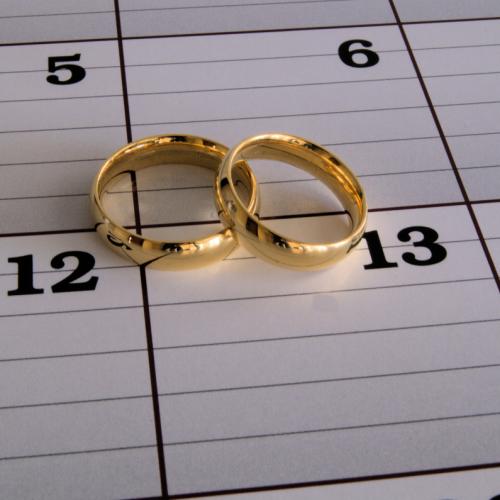 Wedding Rings on calender