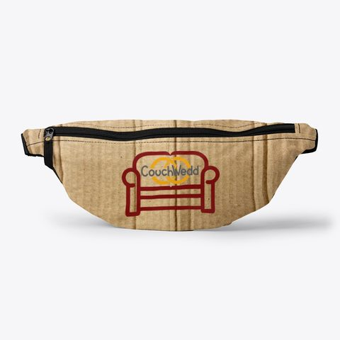 This picture shows our CouchWedd fanny pack that you can buy.