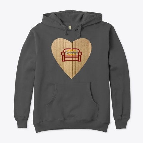 This picture shows our CouchWedd hoodie that you can buy.