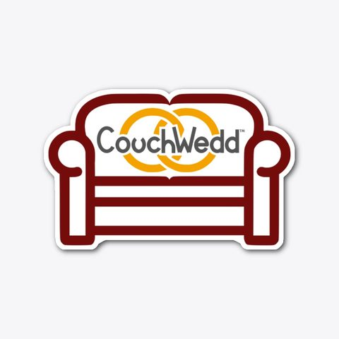 This picture shows our CouchWedd sticker that you can buy.